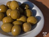 Wine marinated olives in Spain, served as tapas.