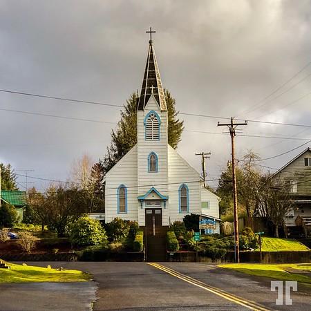 St.Joseph curch in Cloverdale, Tillamook County, Oregon