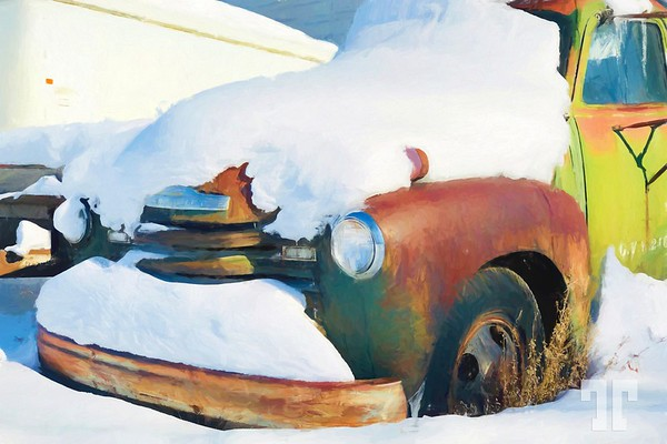 old-chevrolet-truck-snow-montana-paint-cezanne