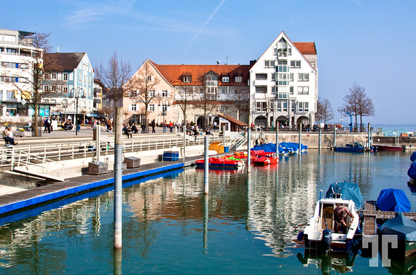 4 April 09<br /> <br /> Small harbor for recreational boats on Lake Konstanze, Friederichshafen, Germany.
