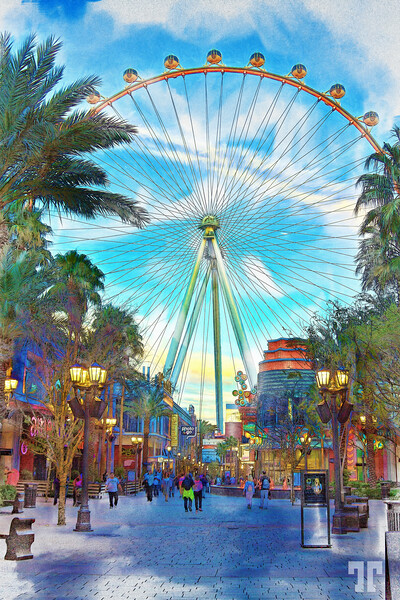 high-roller-linq-promenade-vegas-night-2mod2-ColoredPencil-mix