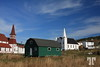 Small village scene on the shore of Trinity Bay, Newfoundland, Canada