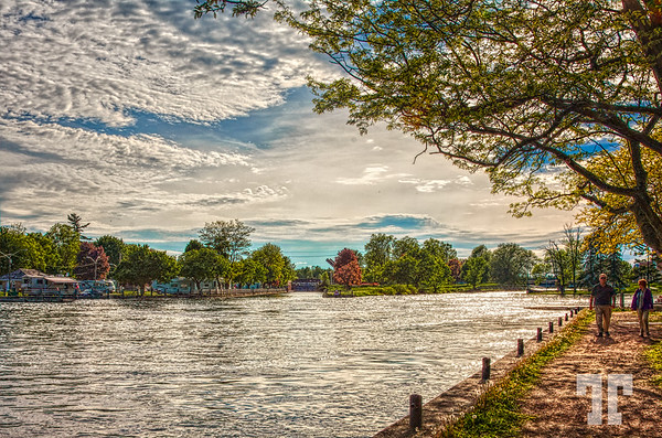May 26, 2011<br /> <br /> The Rideau river and park in Smiths Falls, Southern Ontario