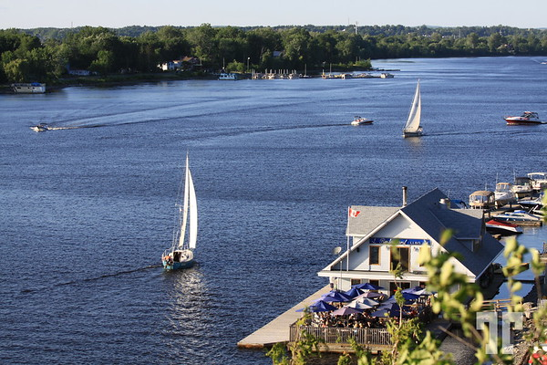Summertime on the Ottawa river, Canada