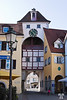 Medieval clock tower in Meersburg, Germany