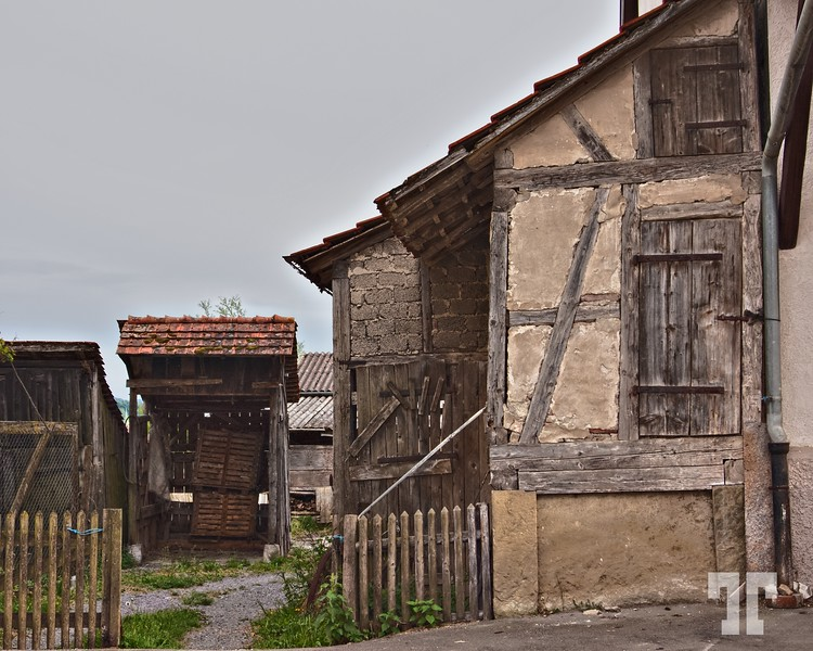Weathered buildings and structures
