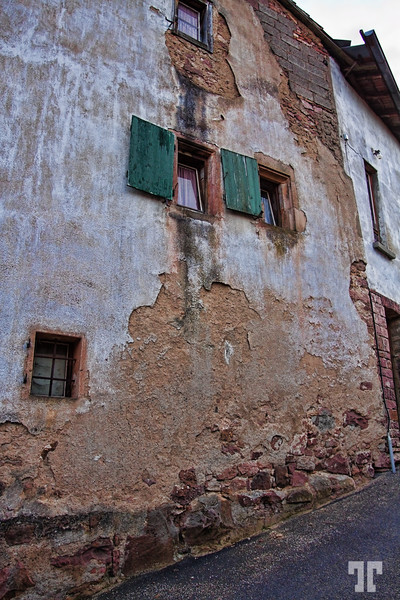 Old Walls in Alsace, France