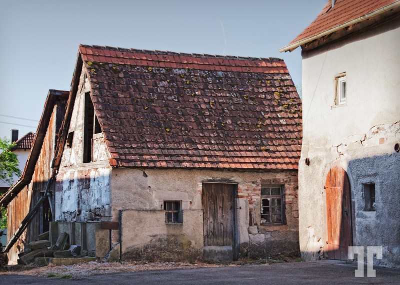Weathered barns in Germany