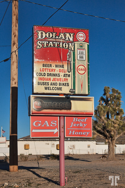 Wild West Gas sign in Dolan Springs, Arizona -Near Las Vegas, on the way to the Grand Canyon West