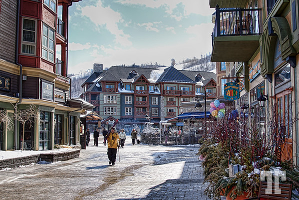 Blue Mountain Village, the ski area of Collingwood, Ontario - Yes, this is in Canada :) March, 2013