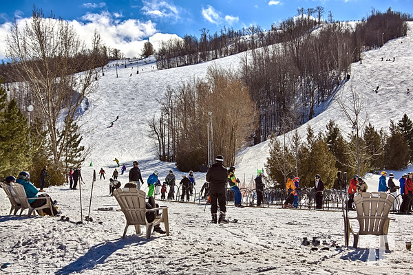 Last days of the ski season at the Blue Mountain resort, Collingwood