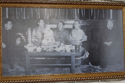photo of Zhou Enlai, Panchen Lama, Mao Zedong, Dalai Lama, and Liu Shaoqi