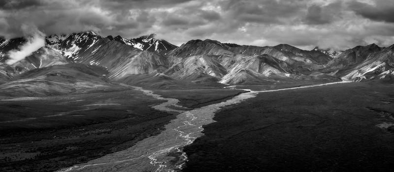Denali Polychrome River Delta Y in Monochrome