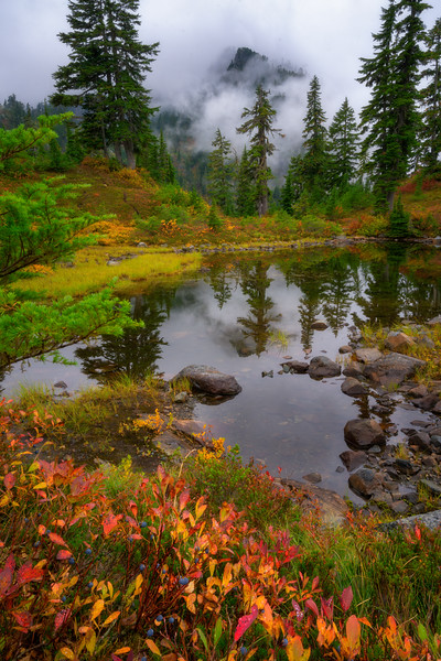 Alpine Pond Autumn Moods