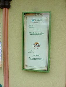The Downtown Disney Ticket booth has been closed
