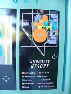 The map on the left (not really shown) is a map of the Disneyland Hotel