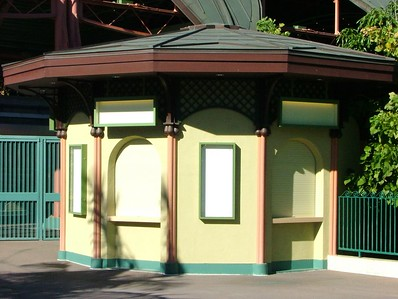 ALL signage has been removed from the old DtD/Monorail Ticket booth... you now need to go to the Main Entry Plaza to buy tickets.