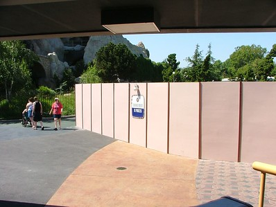 The Paving project near the Monorail entrance hasn't finished yet....