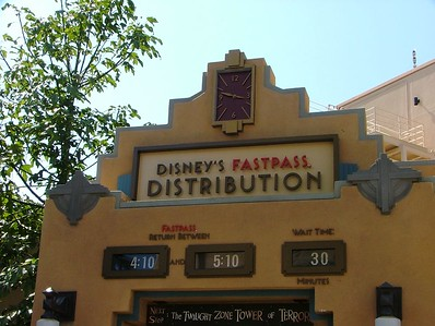 At about 3:48 PM (clock is located above the sign), only a 30 minute wait for a FastPass......