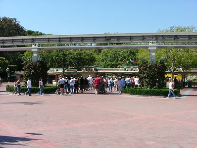 But quite a few in line at the same time waiting to get into Disneyland