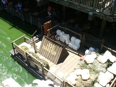 Water Babies on a raft, what type of safety testing are they doing down here? (Raft located next to the Hungry Bear)