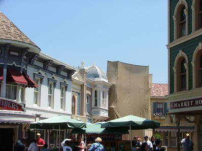 Not much Tarp showing on Main Street