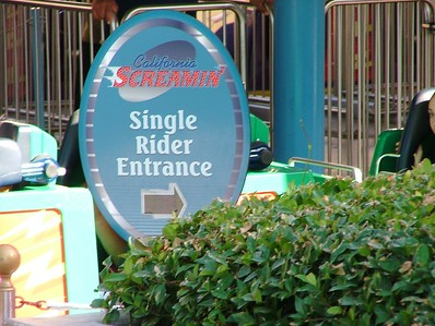 California Screamin' now offers a Single Rider option...