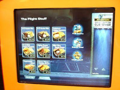 "I pick ""The Flight Stuff"", the main courses"