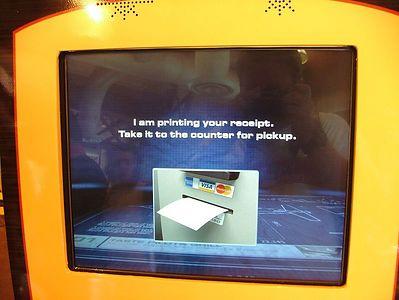 The receipt prints