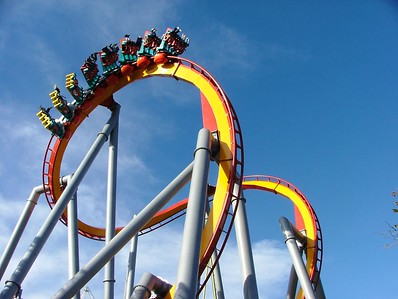 This is the Cobra Roll near the main entrance