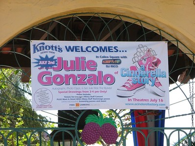 Heck, they were giving away Hillary Duff Cd's, kinda funny, Disney giving away CD's at Knott's....