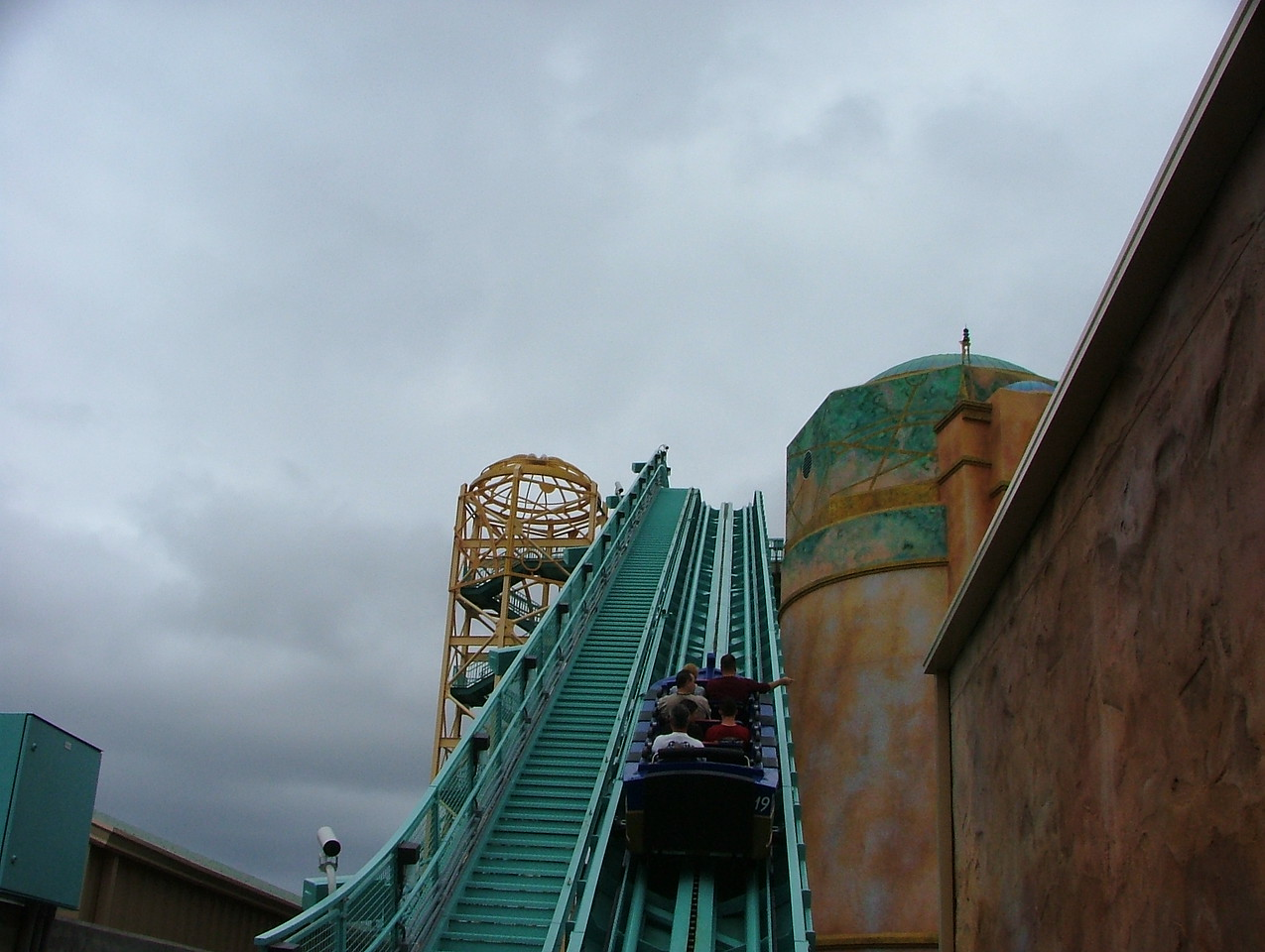 Interesting, most coaster have there upstop wheels on the bottom, JtA uses the top lip on the track, a true UP stop....
