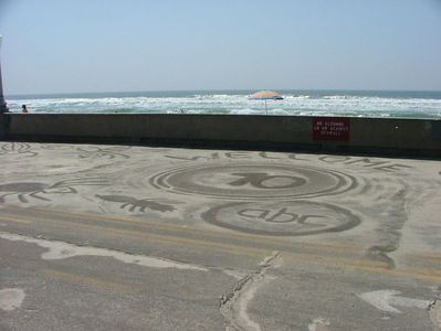 One of the beach artist's works...