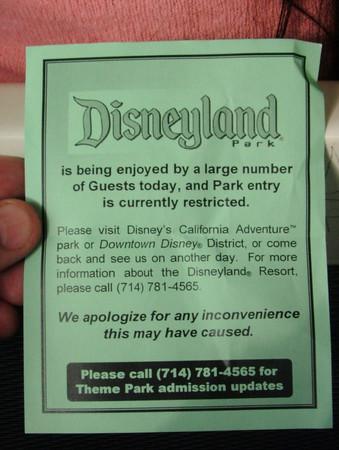 Disneyland Resort - 11/11/05