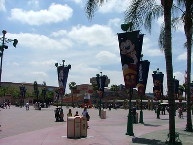 New banners in the Main Entry Plaza.
