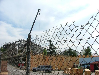 A quick update of the T.G.I .Friday's construction at Knott's California Marketplace