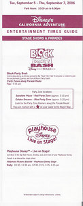 No Block Party Bash or Aladdin Wednesday and Thursday, just Playhouse Disney.