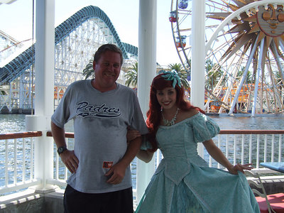 Lisa was kind enough to take my photo with Ariel....