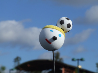 As a BIG World Cup fan, couldn't resist taking this photo in the DtD parking lot