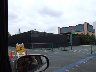 A look at the extended fence due to the Midway Mania construction