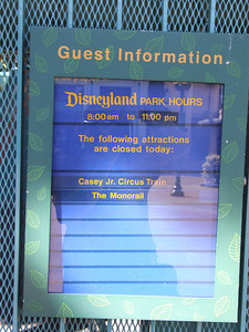 Time to update the closures, these were the ones the day the Monorail closed in August