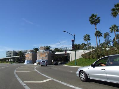 The Pedestrian Entrance to Timon on Katella is also under tarps