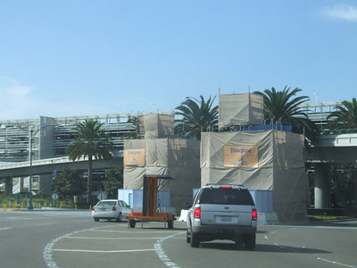 The Mickey and Friends Entrance Signs are still under wraps
