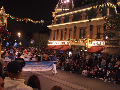 The Grand Marshall this evening was the winners of the stay at the Mickey Mouse Penthouse suite at the DLH.
