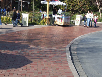 Some of the new brickwork that was done while the Parade was done around the Hub