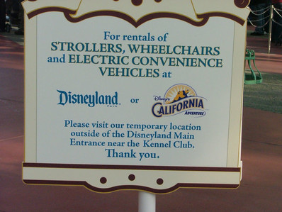 Now both DIsneyland and DCA's stroller desks are closed, and the new one in the Main Entry Plaza area is your only choice.