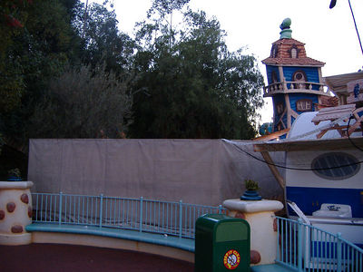 The refurb walls are up