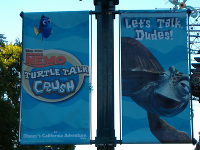 New banners are promoting DCA in Downtown Disney