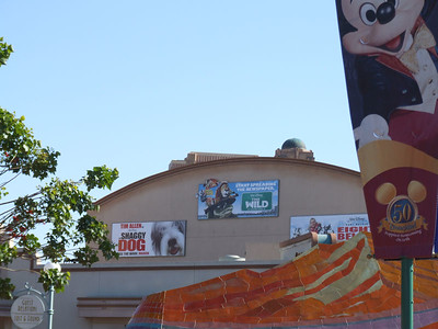 The Movie posters have been changed on the side of the Muppets Building