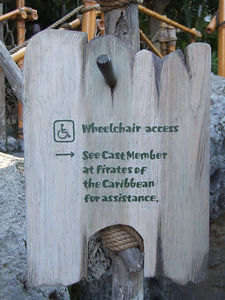 A much more helpful sign in front of Tarzan's Treehouse exit